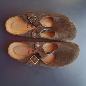 Birkenstock Slip-Ons - Chocolate Brown Suede